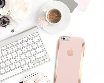 iPhone 8 Case iPhone 8 Plus Case iPhone X Pink Rose Gold Ombre and Rose Gold Hard Case Otterbox Symmetry