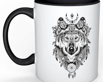 Wolf Medicine Mug <> 11oz <> Totem <> Spirit Animal <> Morning Medicine