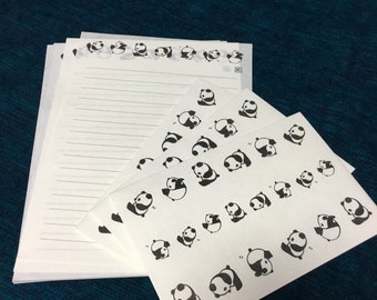 Panda Letter set from japan -washi paper-