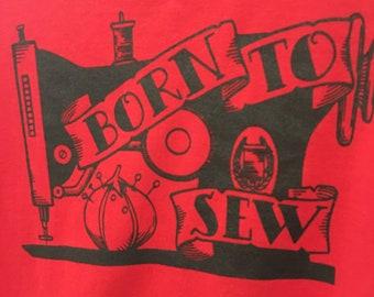 Sewing tattoo theme t-shirt