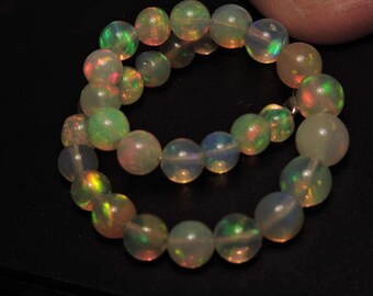20 Pieces Extremely Beautiful Natural Ethiopian Welo Fire Opal Smooth Polished Balls Size 6-4 MM