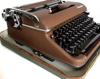Olympia Typewriter Werke AG Wilhelmshaven Made In West Germany Bakelite Unusual Brown