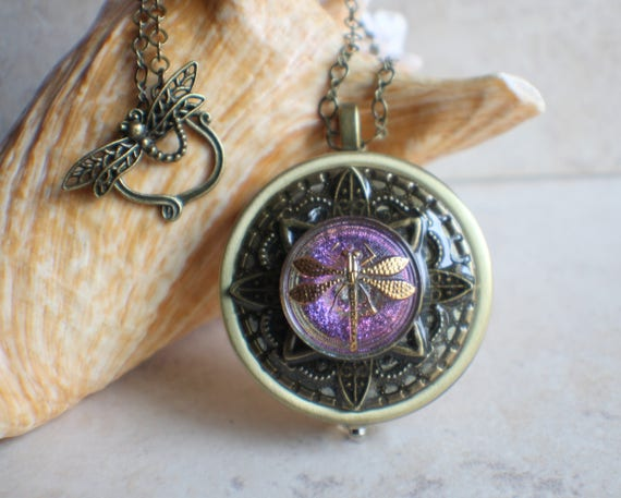 Round czech glass music box locket round music box pendant aloadofball