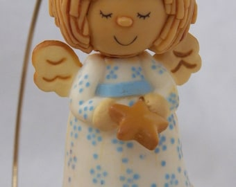 Vintage 1978 Hallmark Dough-look Angel - QX1396
