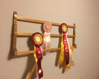 Horse Ribbon Display | Dog Ribbon Display | 4-H Ribbon Display | Deluxe Oak