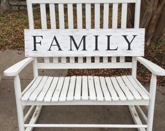 Family Sign, Farmhouse Rustic Sign, Wall Decor, Fixer Upper Decor, Distressed Sign