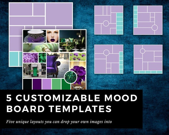 5 indesign templates for mood board inspiration board for for Indesign postcard template 4x6