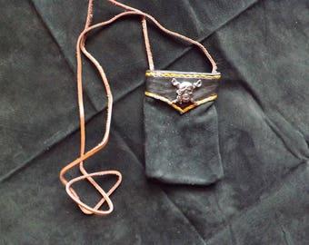 Pirate themed elkskin bag