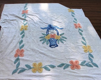 Chenille bed spread