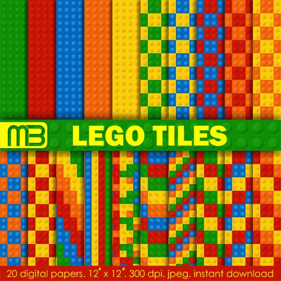 Lego digital paper pack - printable Clip art - Instant download ...