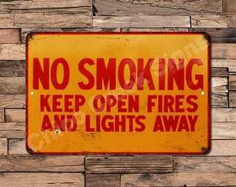 No Smoking Keep Open Fires Away Vintage Look Reproduction 8X12 Sign 8120764