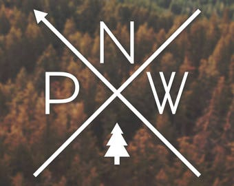 The Original PNW Pride Decal - For Car Windows, Water Bottles, Laptops, Almost Anywhere