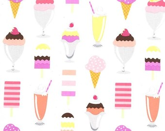 Michael Miller - Get the Scoop - Sherbet - CX7946 SHER-D - 100% cotton fabric - Fabric by the yard(s)