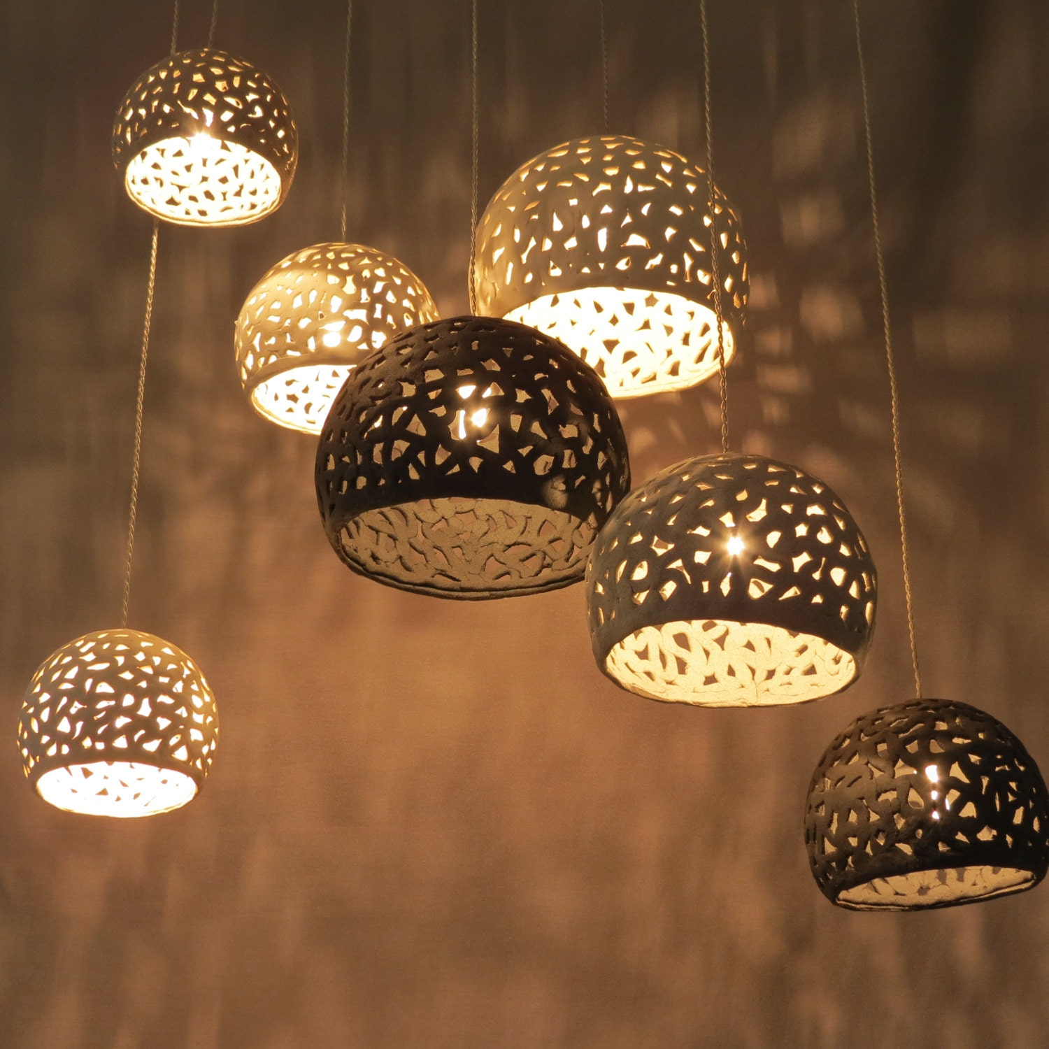 Lighting hanging chandelier 7 ceiling shades Pendant