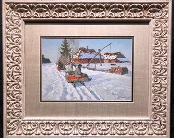 Andrei A. EGOROV Original Painting, Gouache on Board, Framed, Tru-Vue, COA
