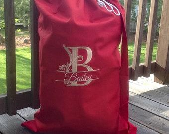 Laundry bag personalized, Monogrammed laundry bag, graduation gift,