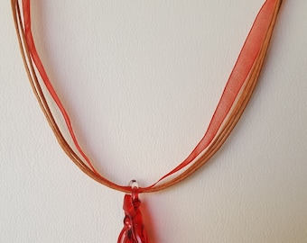 Chilli Pepper and Ribbon Necklace
