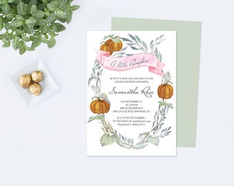 LITTLE PUMPKIN Birthday PDF Template, Pumpkin Birthday, Pumpkin Patch, Fall Lil Pumpkin, Invite pdf, Editable, pdf Party Printable, Autumn