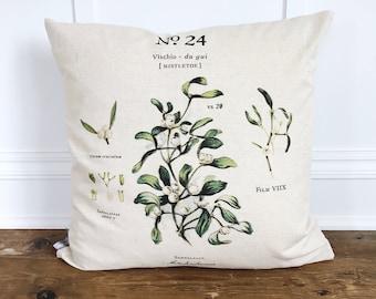 Mistletoe Botanical Pillow Cover
