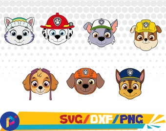 Paw Patrol face svg/Paw patrol shield svg,dxf,png/Paw patrol shield clipart for Silhouette,Cricut,Design,Print and any more