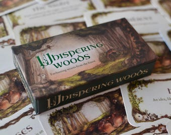 Whispering Woods Mini Inspiration Cards - simple oracle tarot deck - woodland forest animals nature inspiration