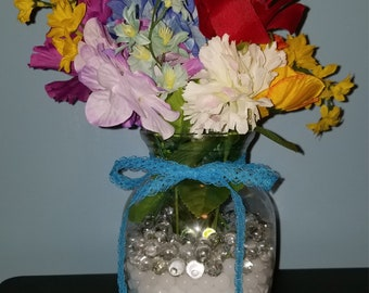 Scented artificial flower vase