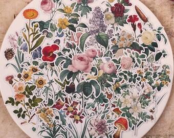 52pcs Fresh Flower Scrapbook Sticker --Filofax Stickers--Planner Stickers
