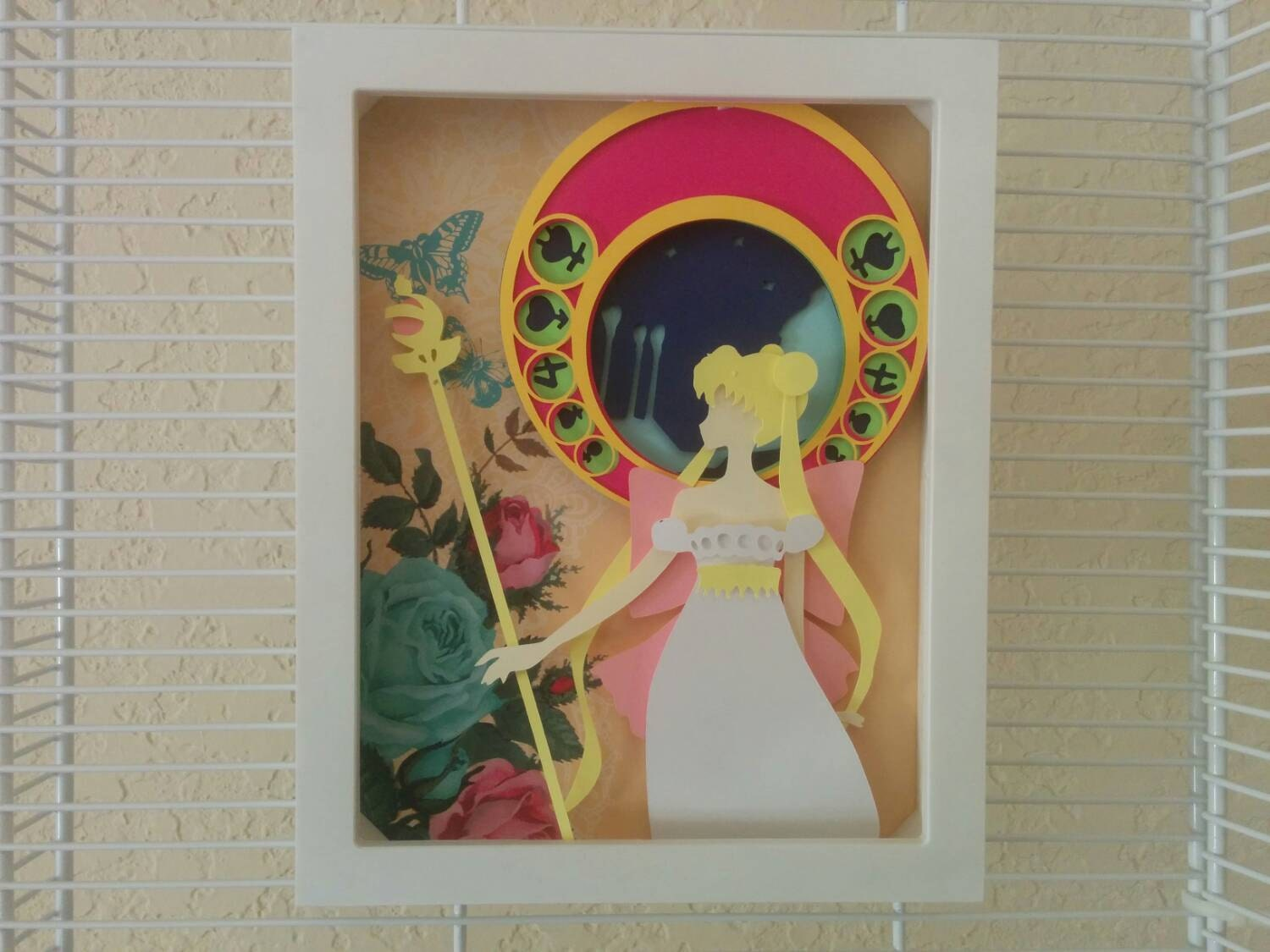 sailor moon serenity layered paper cut art piece