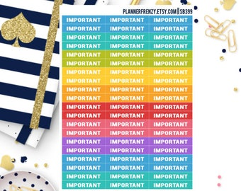 60 Important Section Header Planner Stickers! SB399
