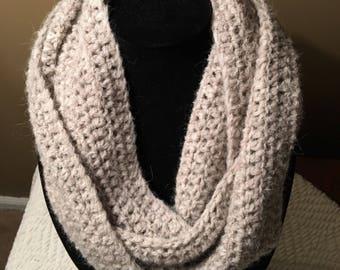 Luxury Superfine Alpaca Infinity Scarf Handmade Crochet