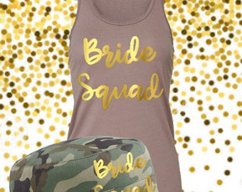Bachelorette Party squad set  -Bride Squad top -Bride vest -Squad top-Bachelorette tank - Bridal Party outfit-hen party tops-personalised