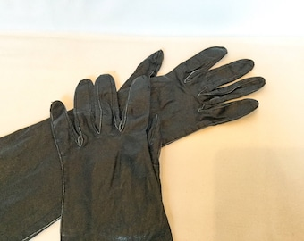 Table Cut Leather Gloves, Vintage Gloves, Ladies Gloves, Brown Leather Gloves, Gloves, Midcentury Gloves, Birthday Gift