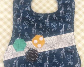 Handmade baby bib / feeding bib / baby gift