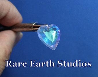 Premium Vintage Crystal Glass Heart 17x20mm 60516118