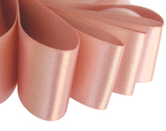 """70mm (3"""") DUSKY PINK   (Rose Gold - Pink Version) Double Satin Ribbon  2 Metres Ideal for Sashes or Belts"""