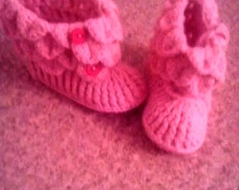 knitted children's slippers