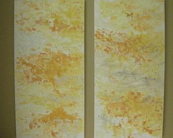 XL Original Mixed Media Abstract Paintings impasto impressionist mango