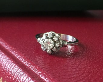 Gold Daisy ring and diamond