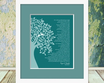 """Thank You Poem for Your Parents, Thank You Poem, Wedding Day Parent's Poem, Gift for Parent's, Parent's Gift, """"How Can We Thank You Enough"""""""