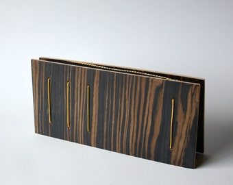 Rectangular Wooden Clutch, evening purse, evenus, handmade, minimal, fashion, architectural accessories, woman, gifts for her, geometric