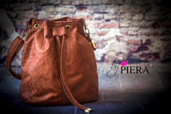 leather bucket bag, brown leather bag, leather handbag, handmade leather bag, leather shoulder bag, leather purse, ladies handbag