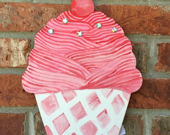 Red Cupcake Bow Holder
