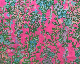 Flamingo Pink SOUTHERN CHARM  Pima Cotton Fabric 18x18 or 18x9  Lilly
