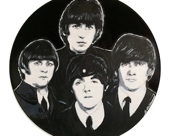 The Beatles Vinyl Painting