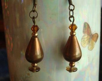 Aged Brass Earrings SALE