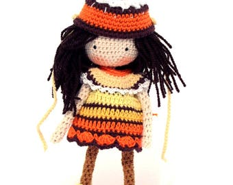 Amigurumi doll,orange cake
