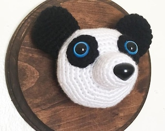 Crochet Taxidermy Panda Bear