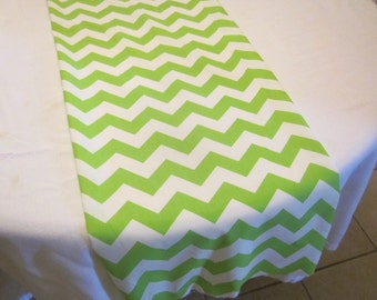 Lime Green Chevron Table Runner, Wedding, Bridal Shower, Baby Shower, Graduation, Birthday, Easter