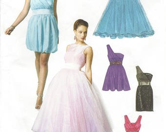 Create It!  Womens Evening Gown, Prom Dress or Bridesmaid Strapless McCalls Sewing Pattern M6466 Size 10 12 14 16 18 Bust 32 1/2 to 40 FF
