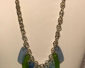 Sea Glass in Blue & Green